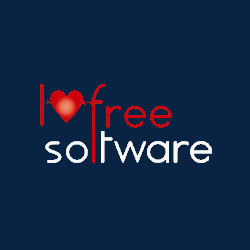 I love free software logo
